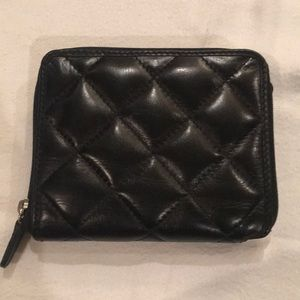 Bifold leather wallet with zipper closure NWT